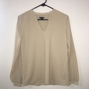 Ann Taylor nude color blouse